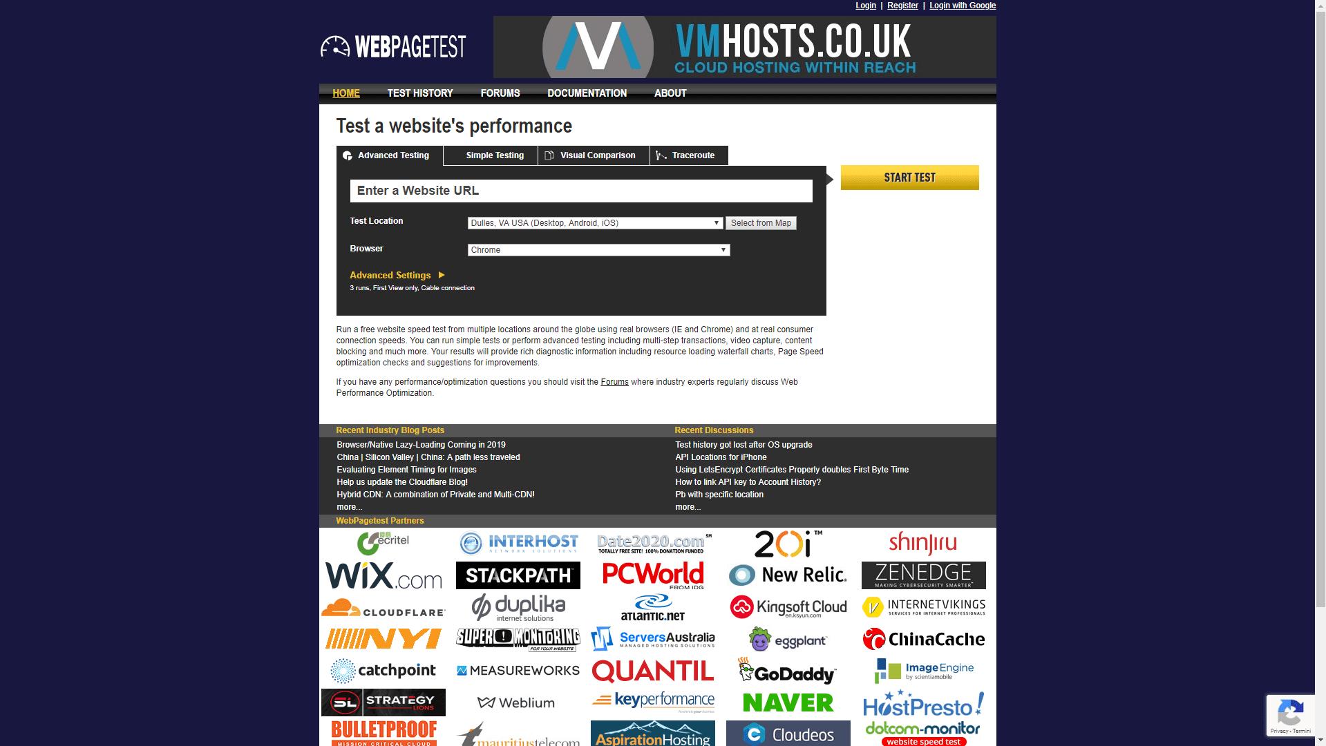 test-velocità-del-sito-internet-gratis